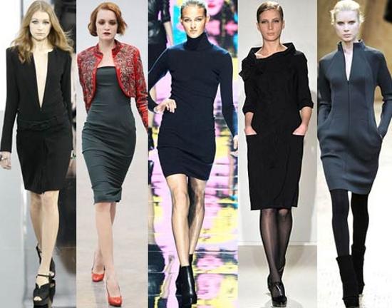 Модные классические платья 2012 отличаются строгостью линий.