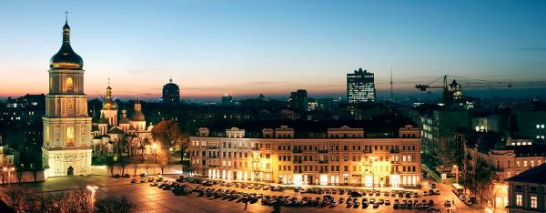 Фрагмент панорамы Киева