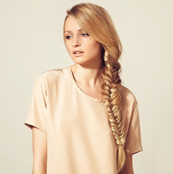 Как можно заплести волосы средней длины самой себе - 252d