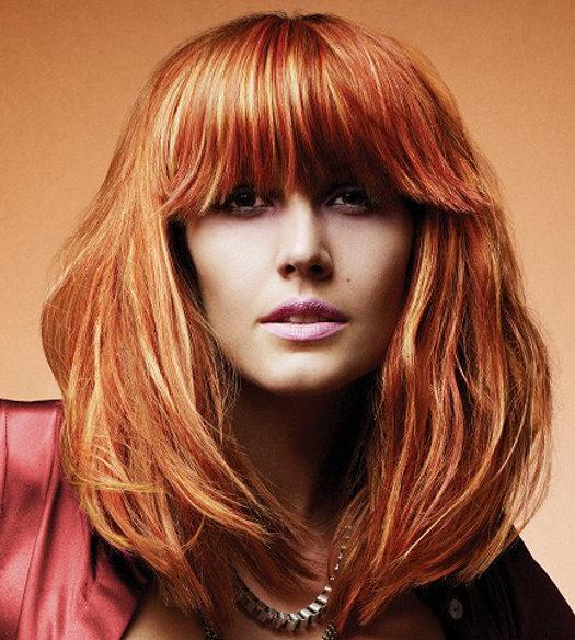 фото мелированные рыжие волосы