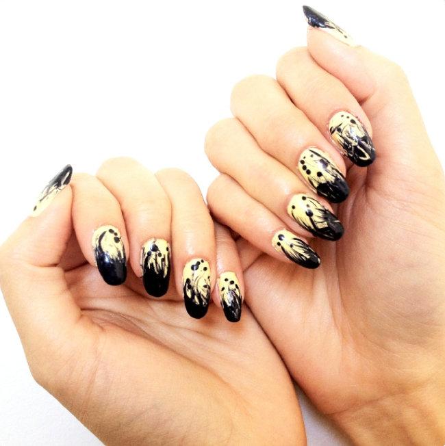 Маникюр рисунки на ногтях иголкой в домашних условиях фото
