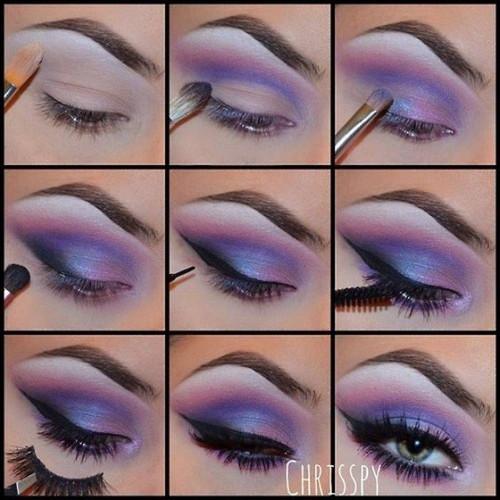 макияж в фиолетовых тонах фото